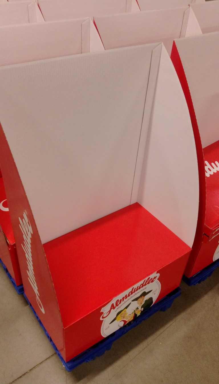 Display bouwen Almdudler maatwerkbedrijf AMAB