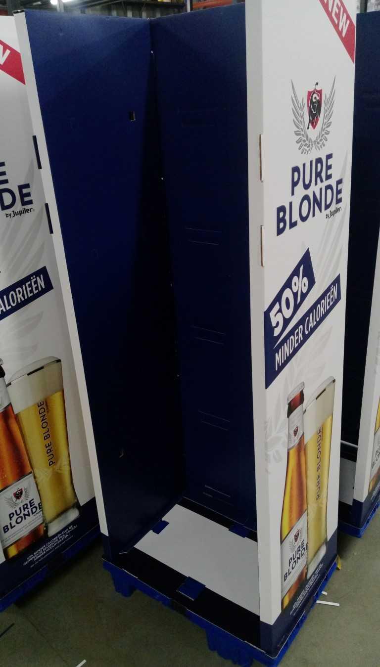 Display bouwen Pure Blonde maatwerkbedrijf AMAB
