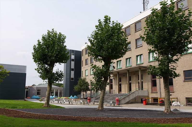 Samenwerking groendienst AMAB maatwerkbedrijf met Odisee: campus Dilbeek