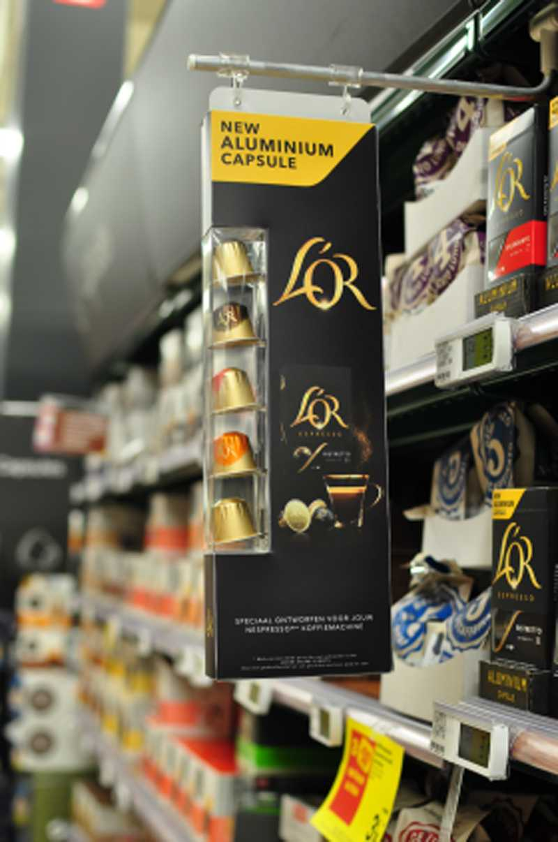 Case verpakking op maat: L'or shelf divider