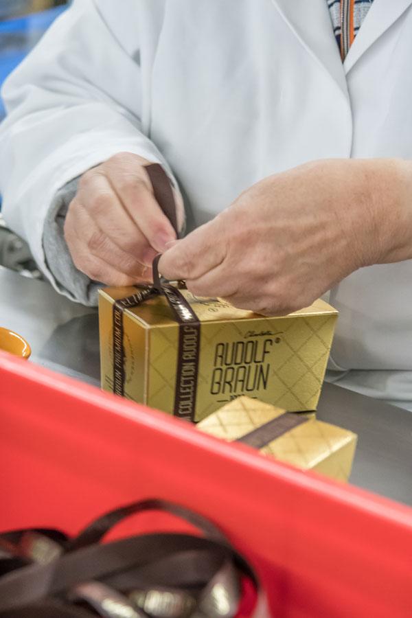 Verpakking pralines ballotin
