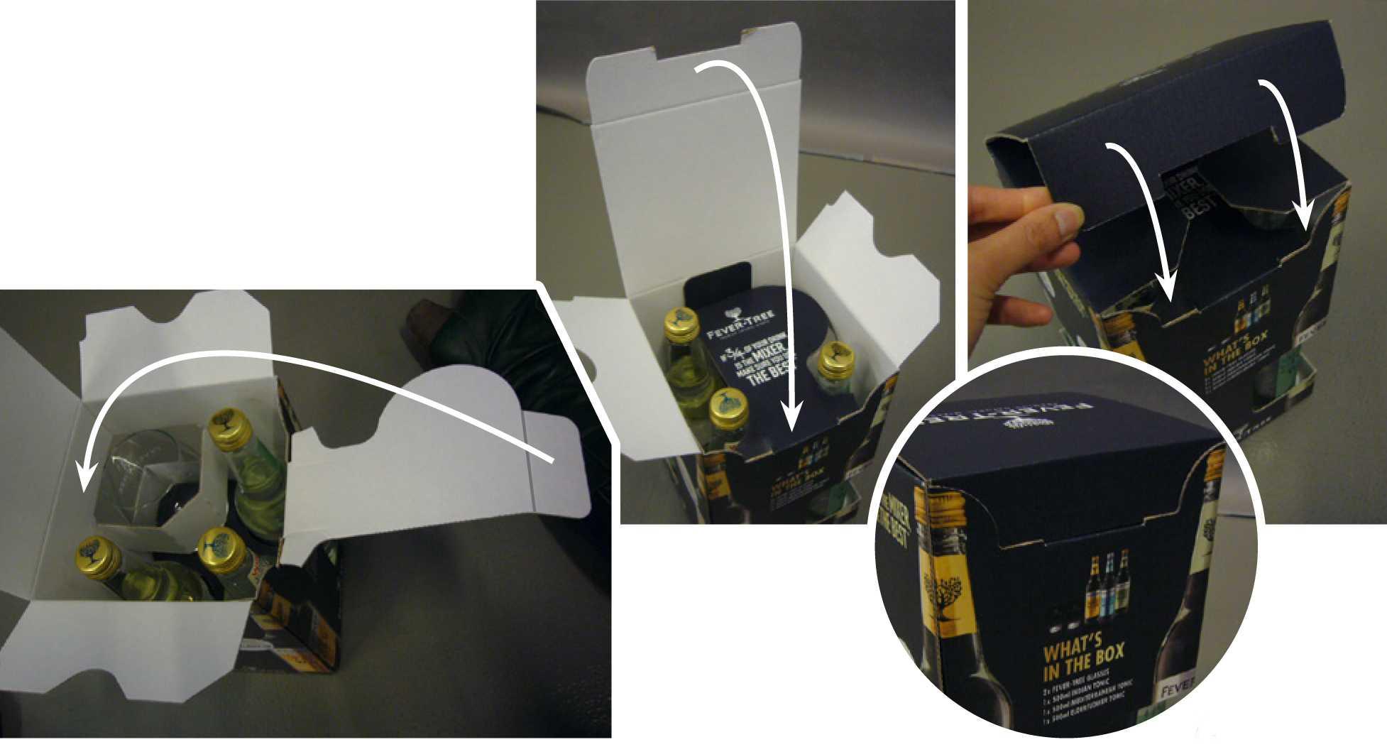 Case verpakking op maat: Fever tree gift box