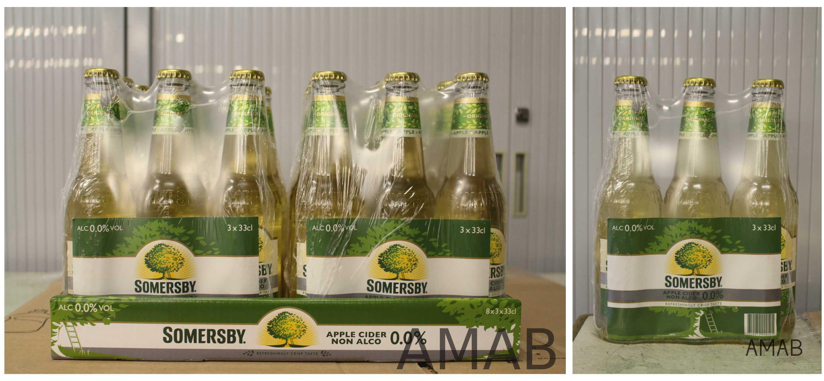 Case verpakking op maat maatwerkbedrijf AMAB: Somersby shrink