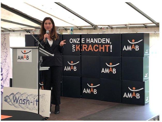 Zuhal Demir opening wasstraat AMAB